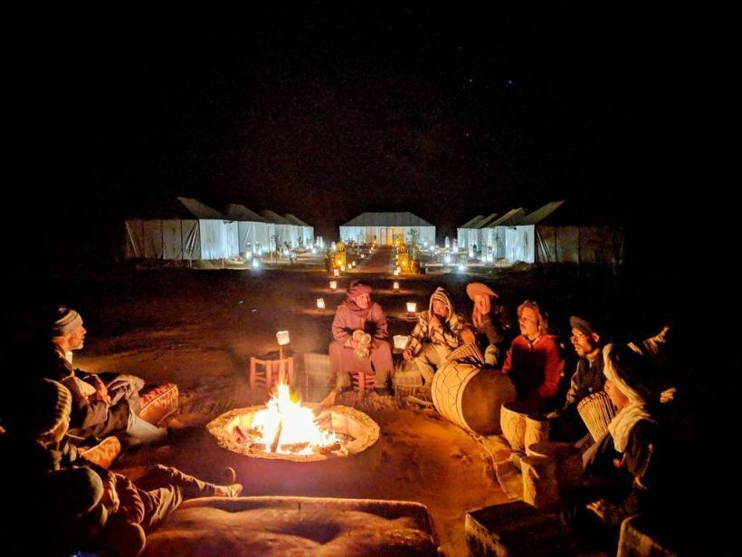 berber drums night desert